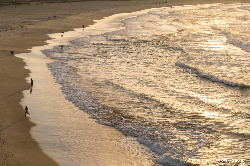 Very quiet down the beach