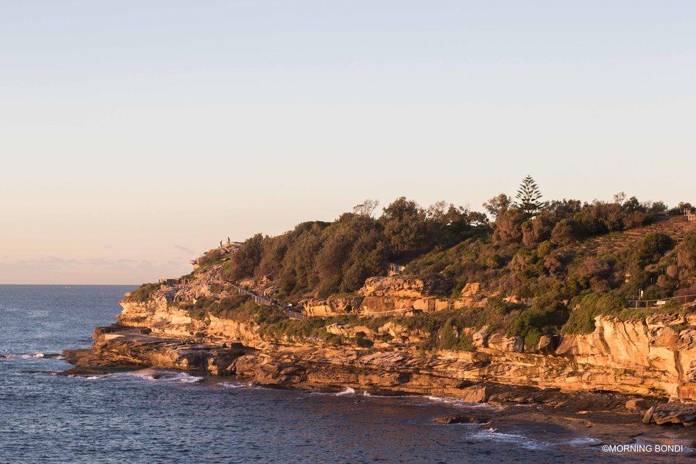 The iconic coastal walk at sunrise
