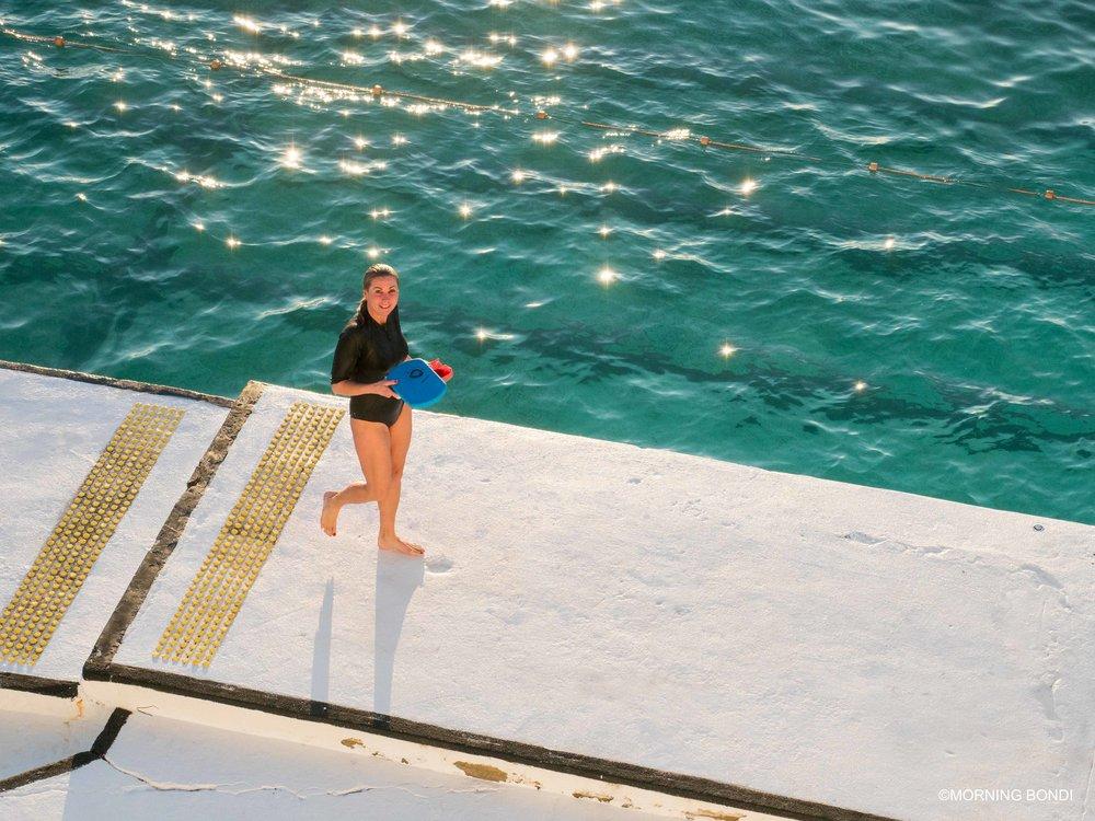 Renee Robertshaw post-swim
