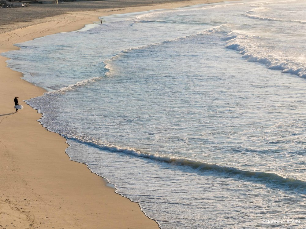 When the ocean is rolling out the blue carpet...