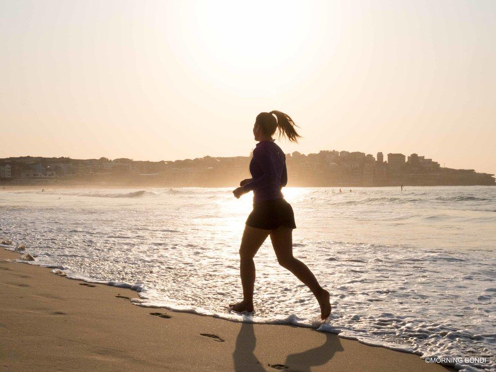 Simone Yammine on her morning run