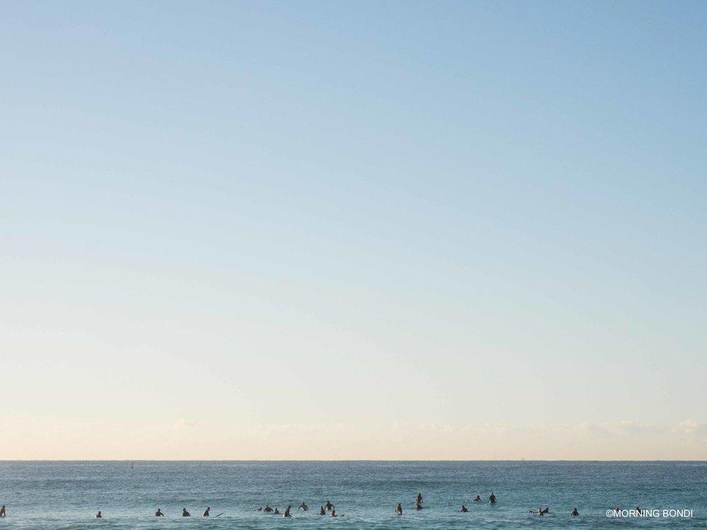 One peak, 70 surfers - classic Bondi!