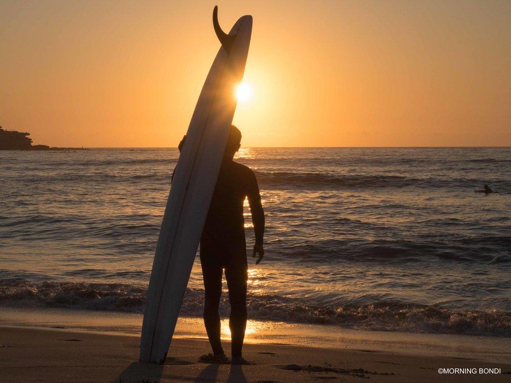 Keiron Lewis at sunrise