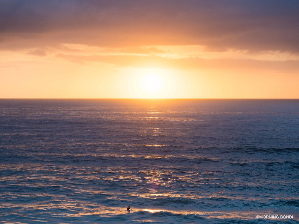 Surfing at dawn must be one of the best things in life!