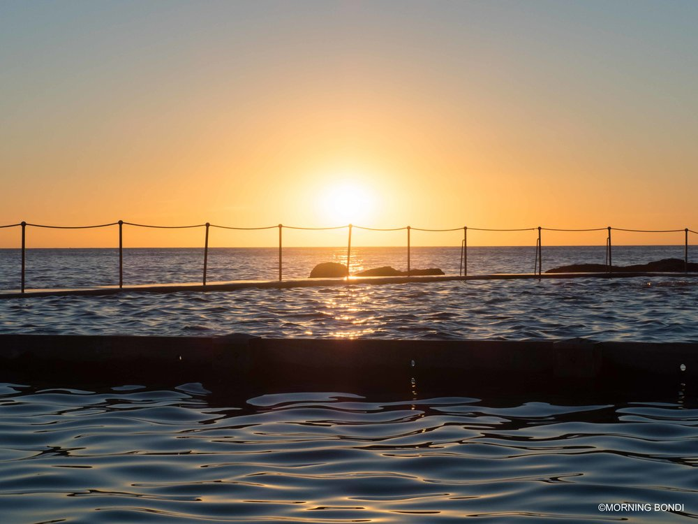 How stunning is Bronte Pool at sunrise!