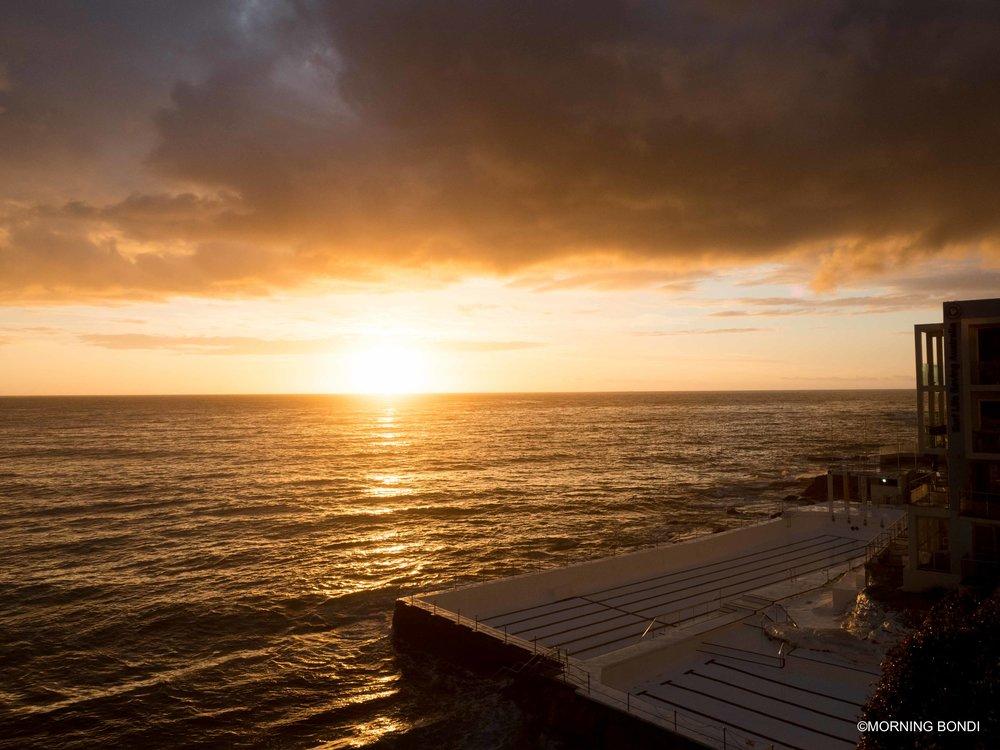 The iconic Bondi Icebergs pool at sunrise - how good!