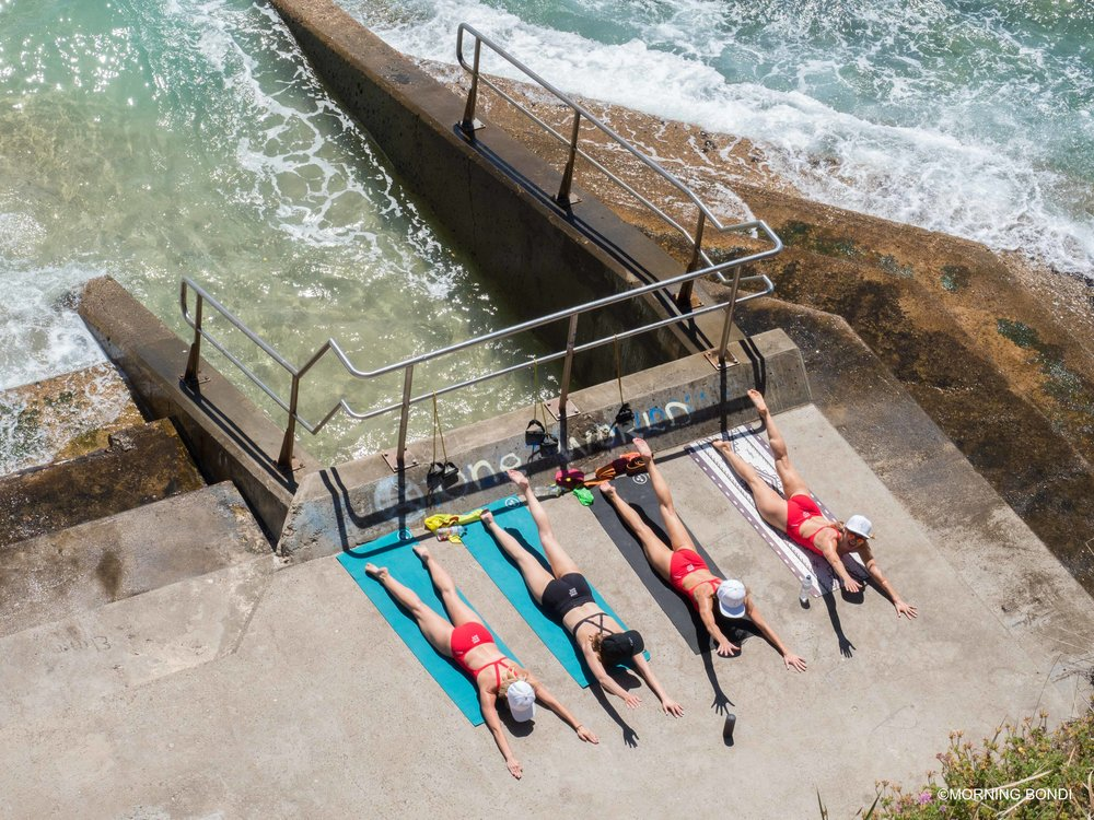 Bondi Beach Bums training hard