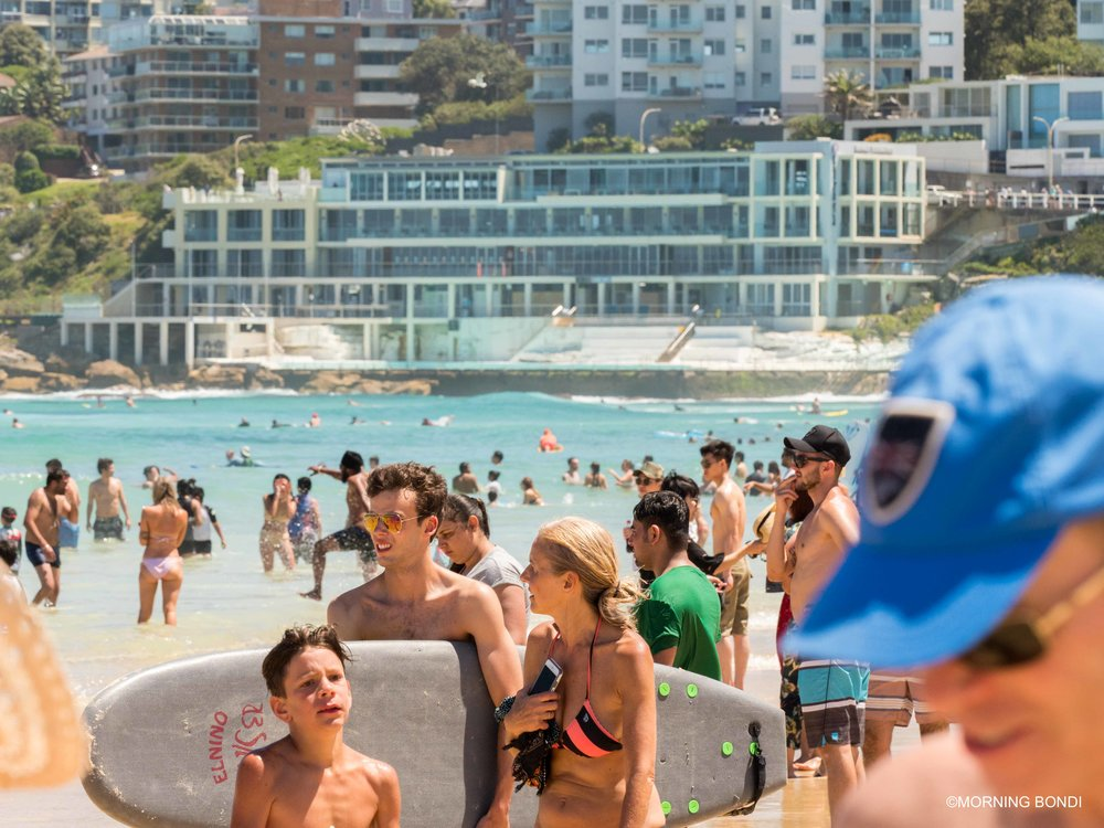 Bondi Icebergs is the only quiet place on Christmas Day