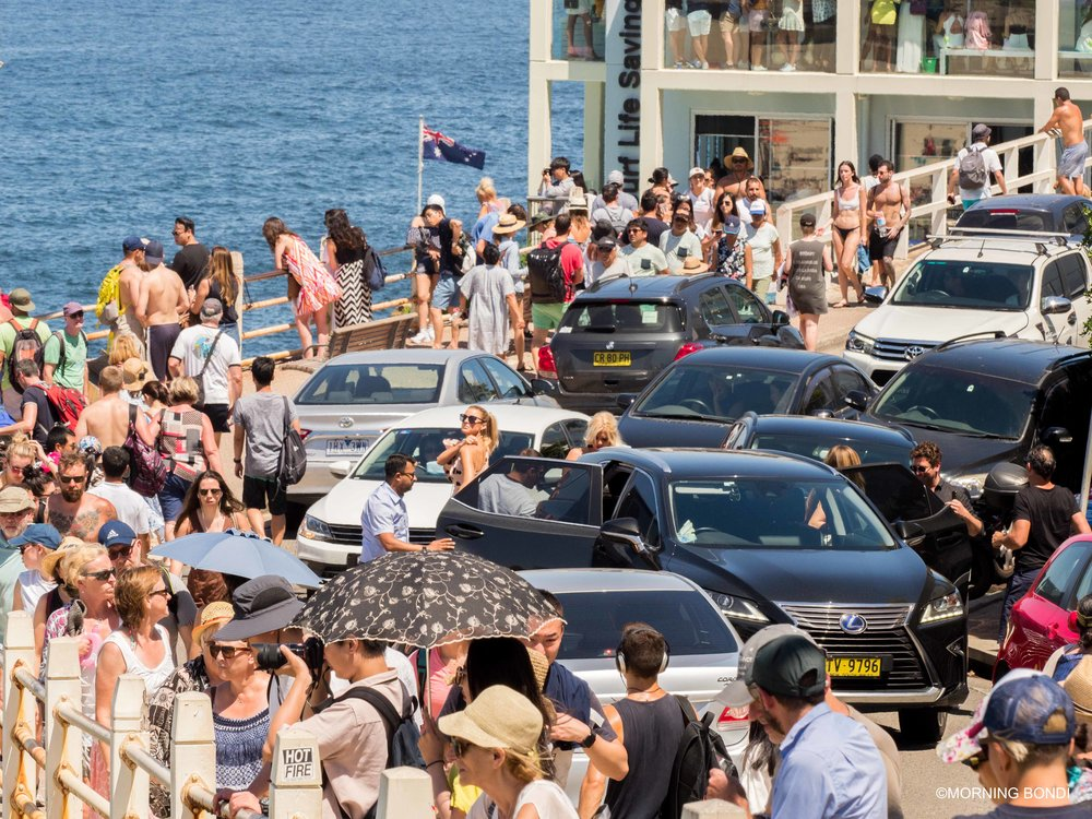 Traffic jam on Notts Avenue