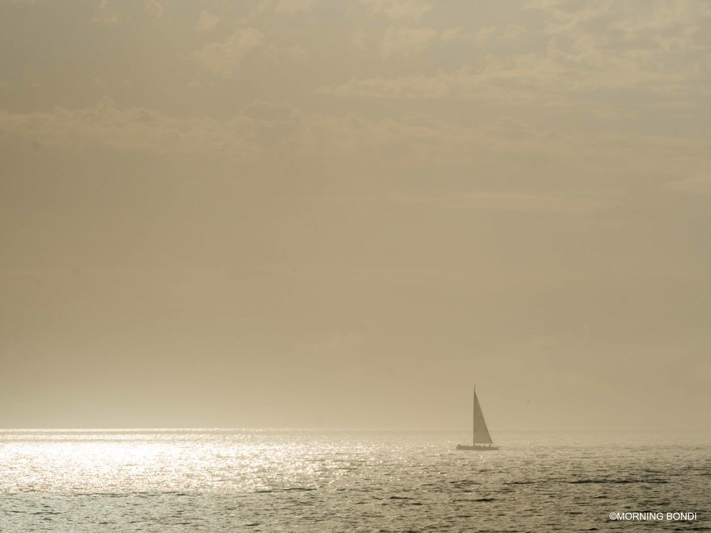 Yachting at sunrise - what else?