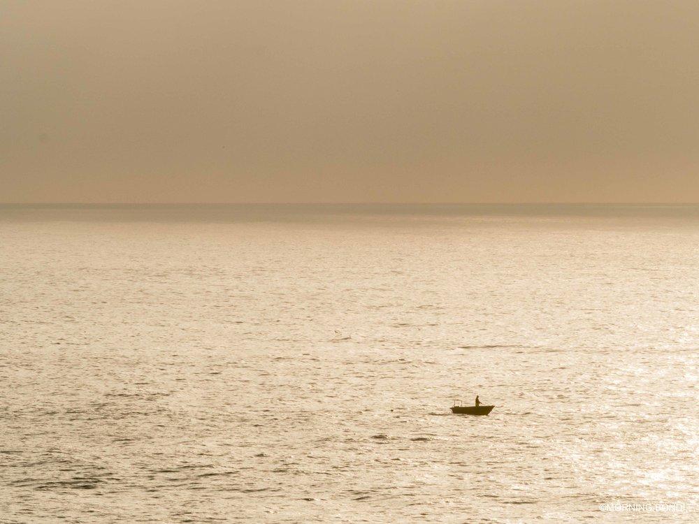 Small shark net boat