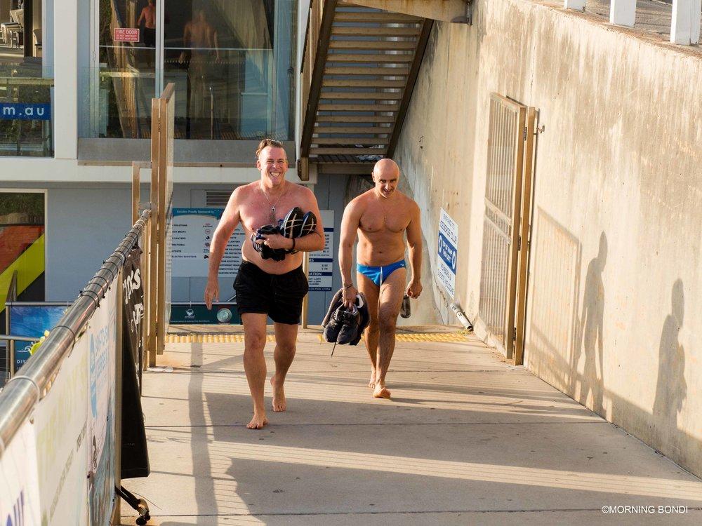 Rexy & Augustus post-swim