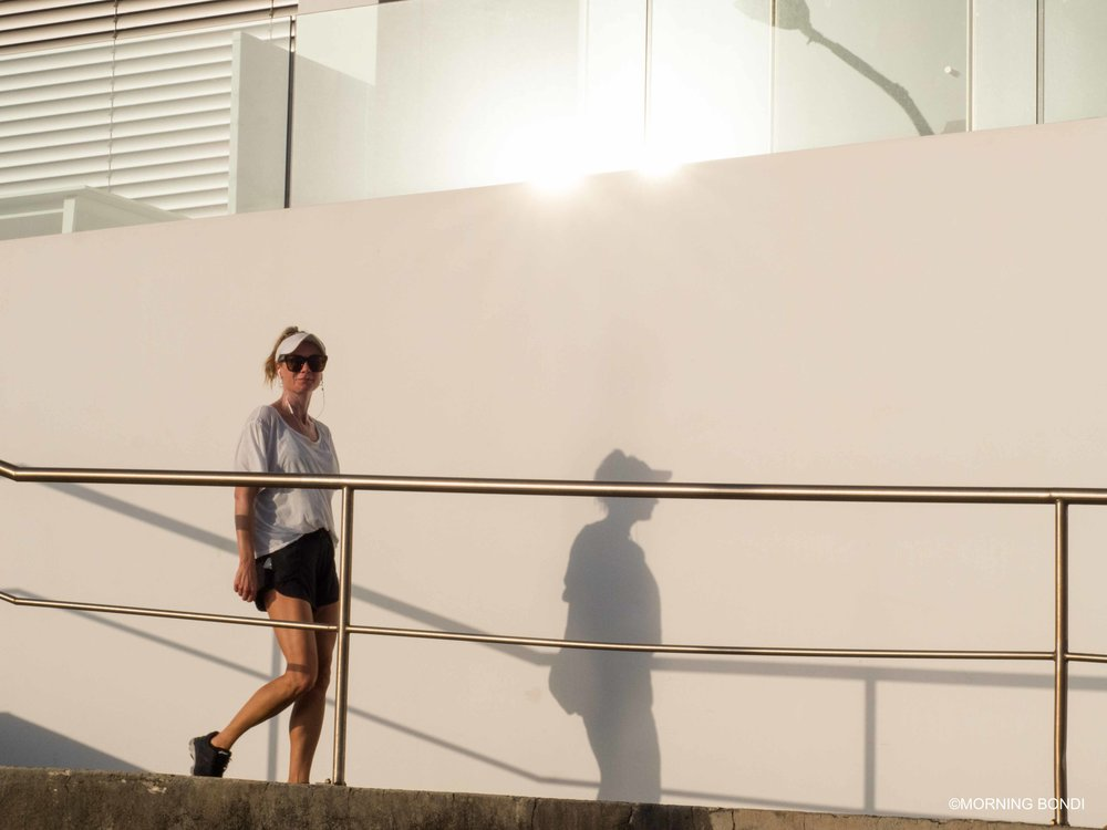 Renee Robertshaw on her daily stroll