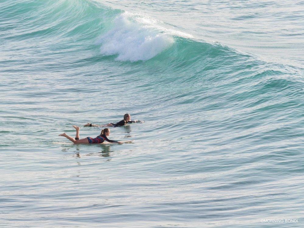 Surfing chicks