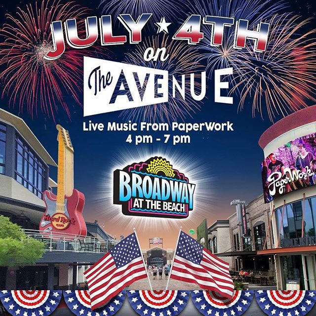 playing 'the Avenue' at BatB July 4 from 4-7pm #myrtlebeach #itsstillcelebritysquaretome