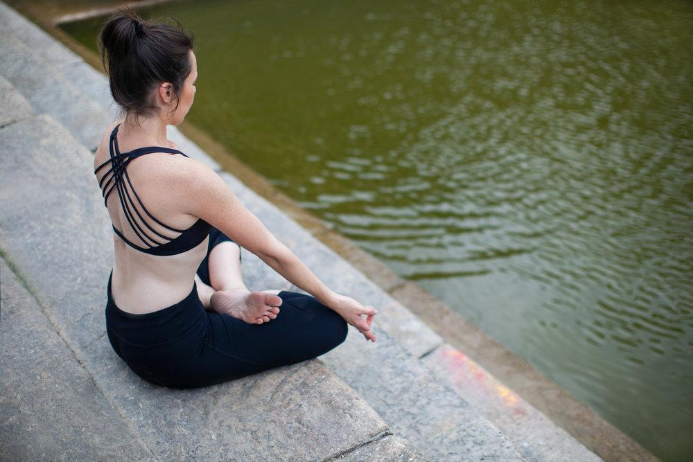 Jessica Dewar Yoga Lotus Posture Padmasana