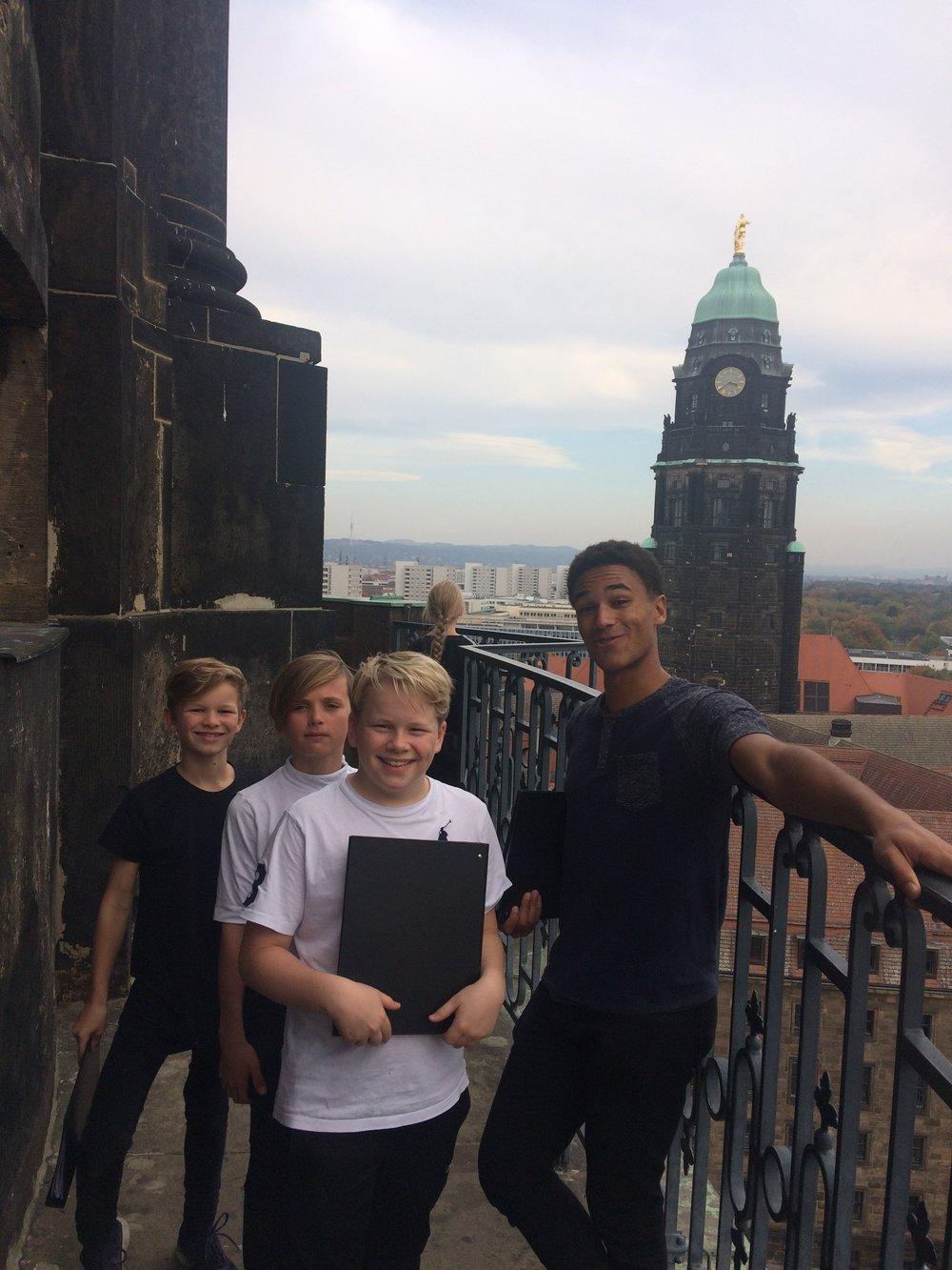 Vi klarede turen op til tårnet!