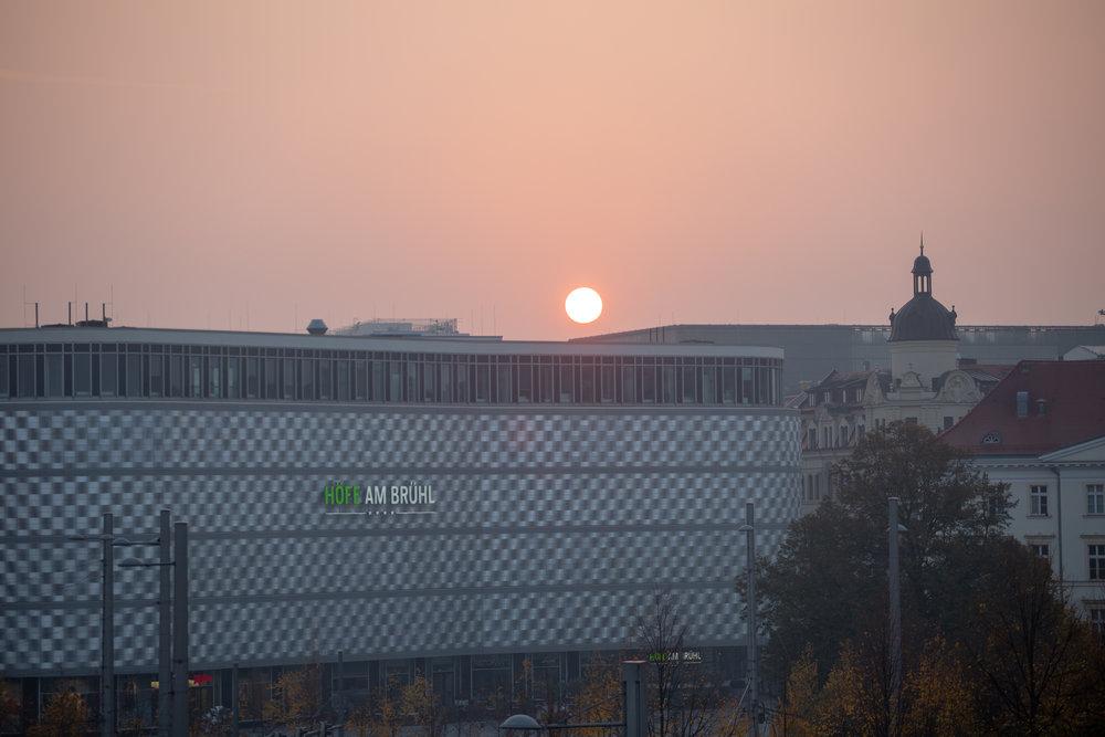 Leipzig solnedgang