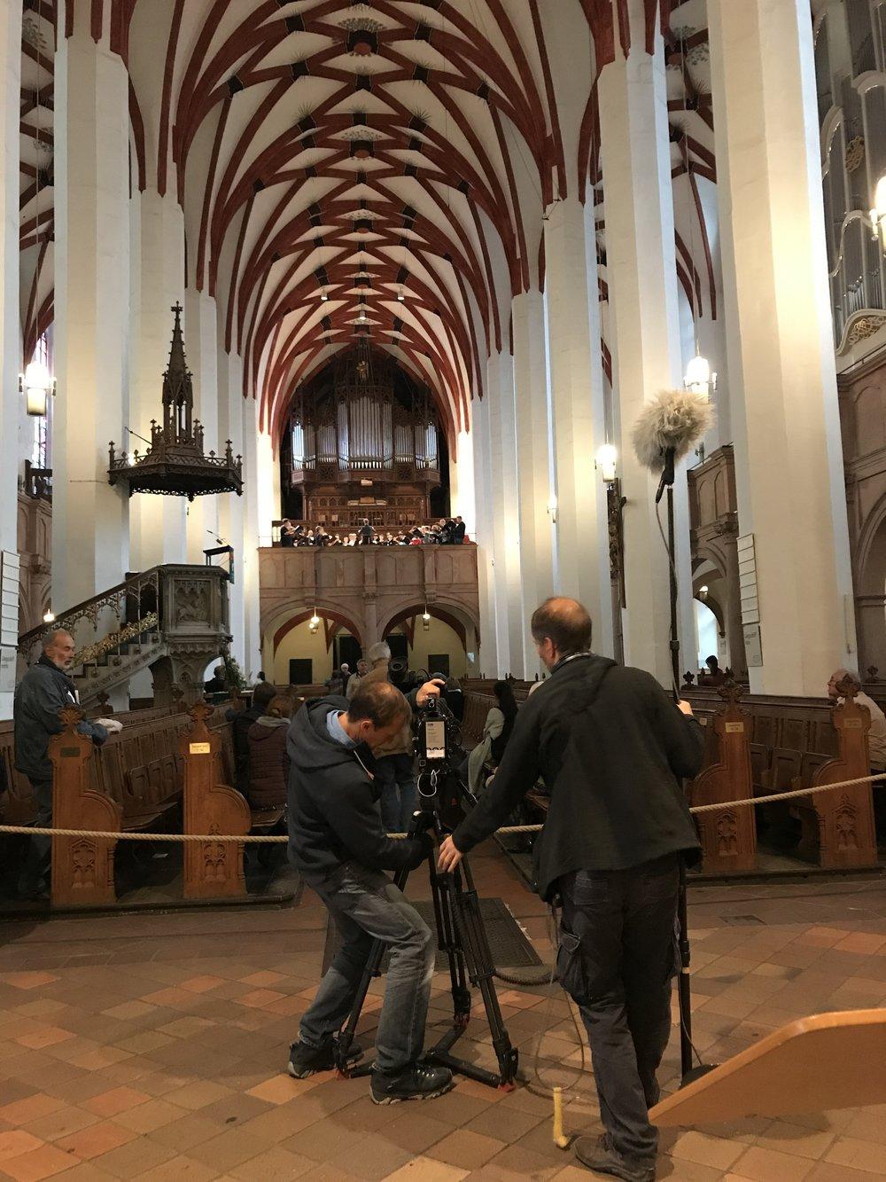 #Famous2.0 Selv uden Bach blev vi filmet til et program om Bach