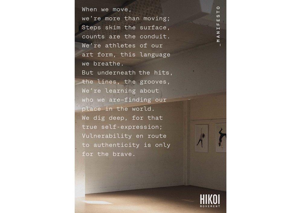 HIKOI manifesto