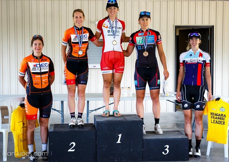 Nic Moerig cyclist podium