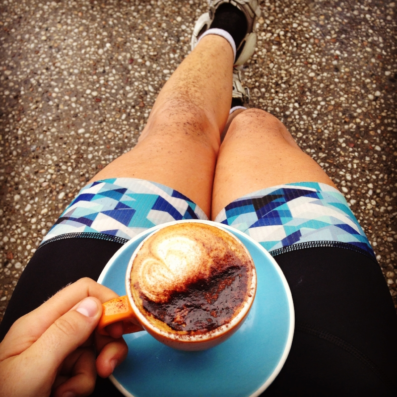 A well deserved cappuccino post-ride