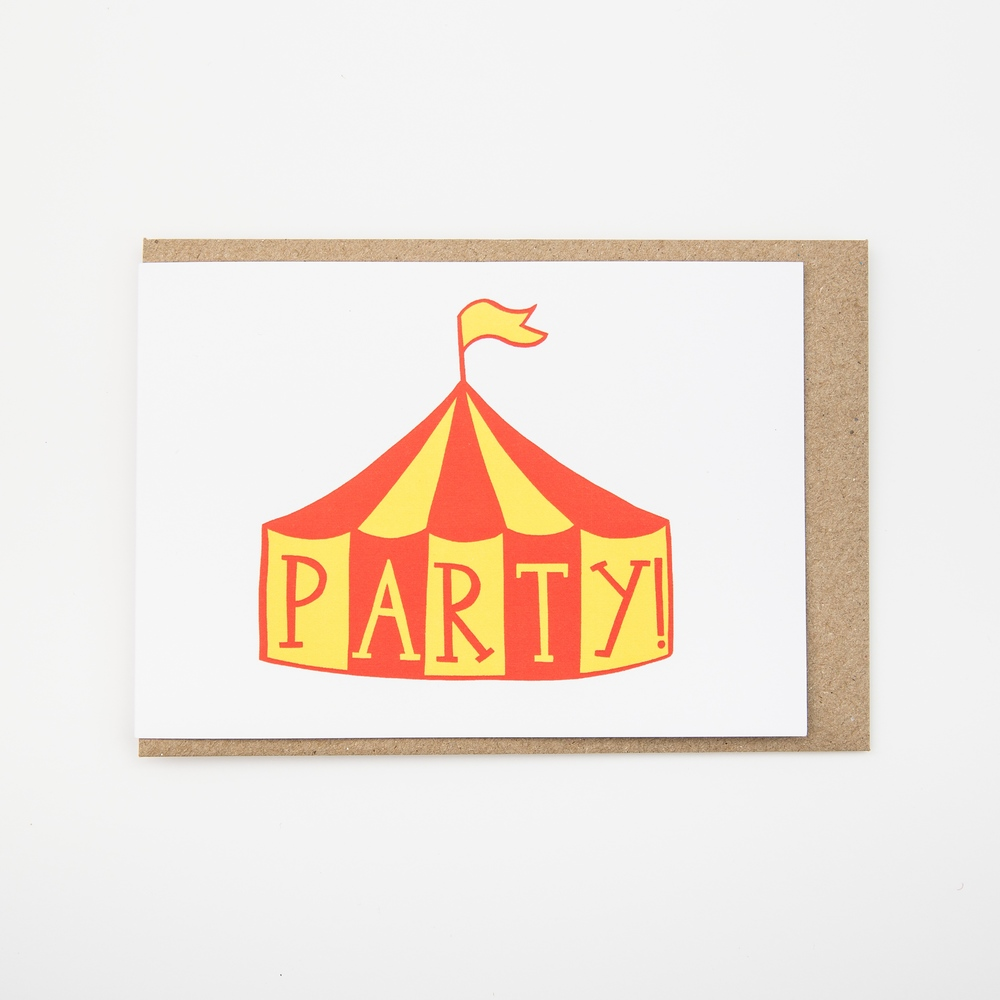 8 circus party invitations