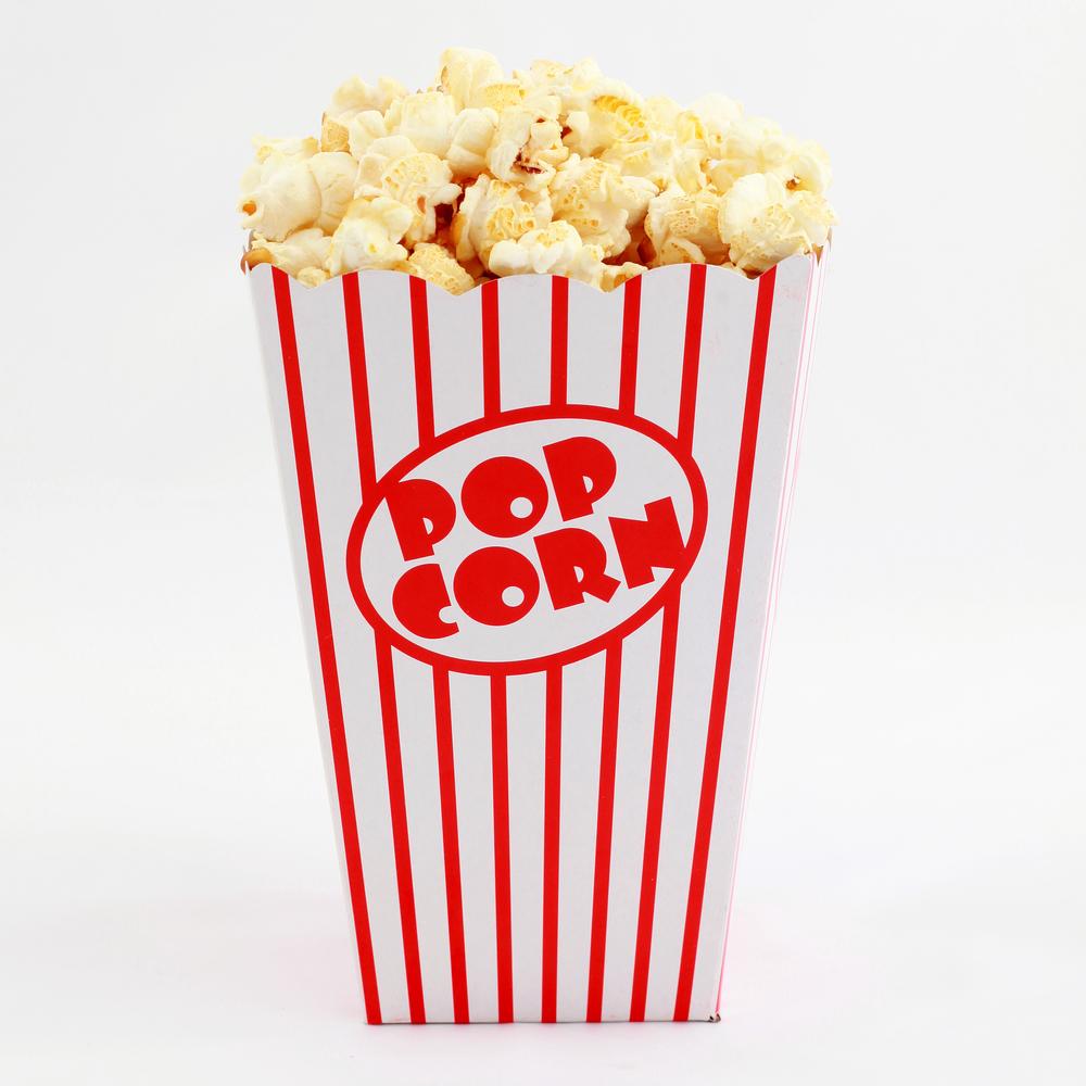 3 retro popcorn boxes