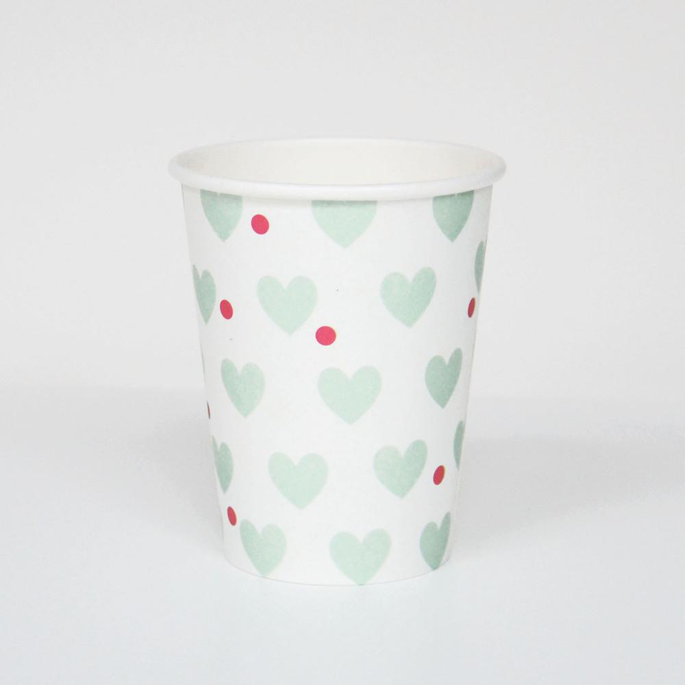 8 AQUA HEART CUPS