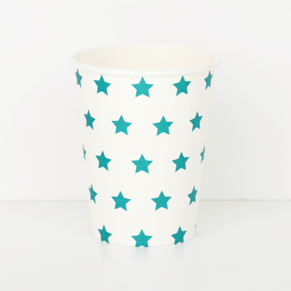 8 BLUE STAR CUPS