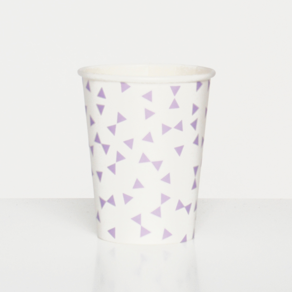 9 LAVENDER BOW CUPS