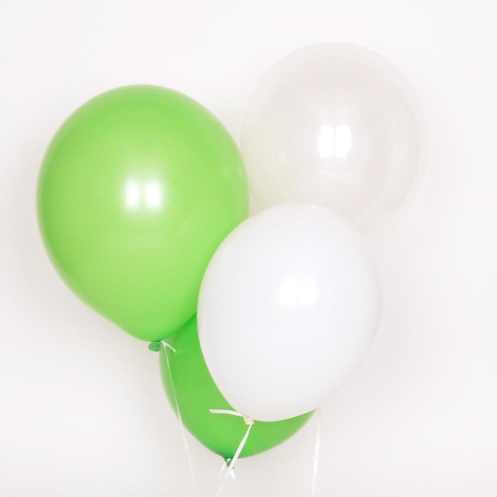 10 GREEN MIX BALLOONS