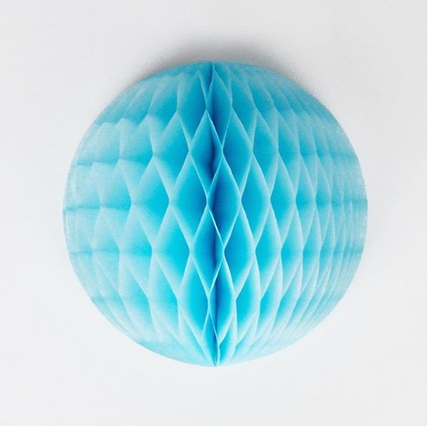 15cm blue honeycomb decoration