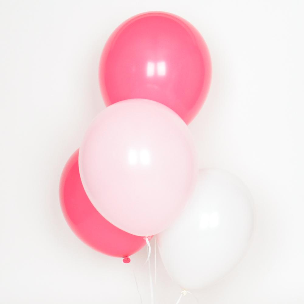 10 pink mix balloons