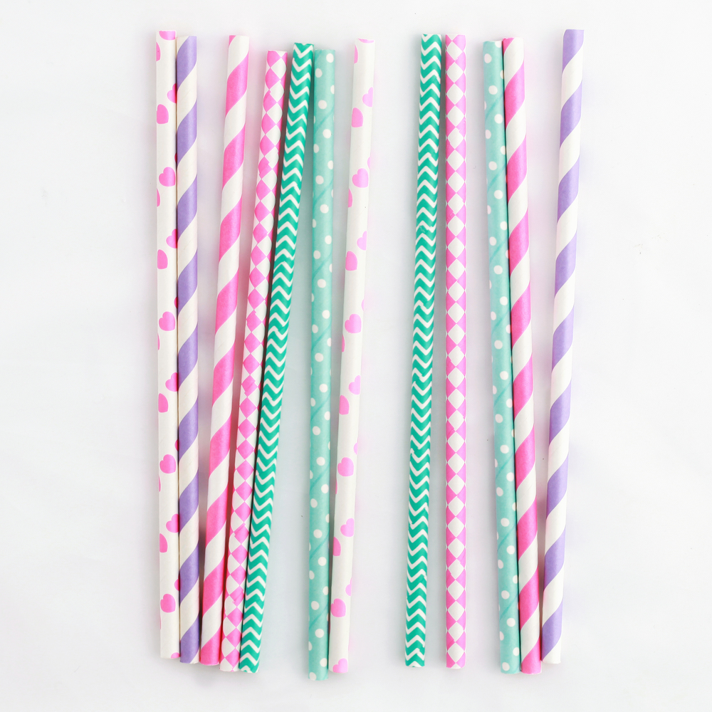 25 fairytale mix straws