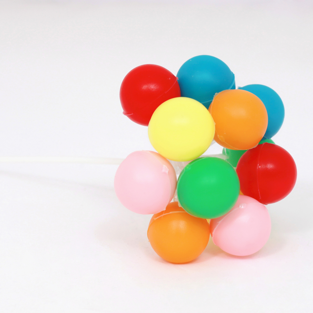 balloon cluster cake topper