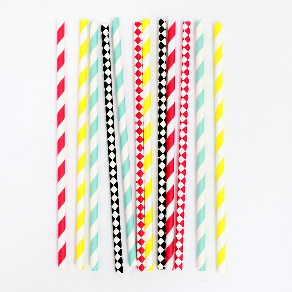 25 circus mix straws