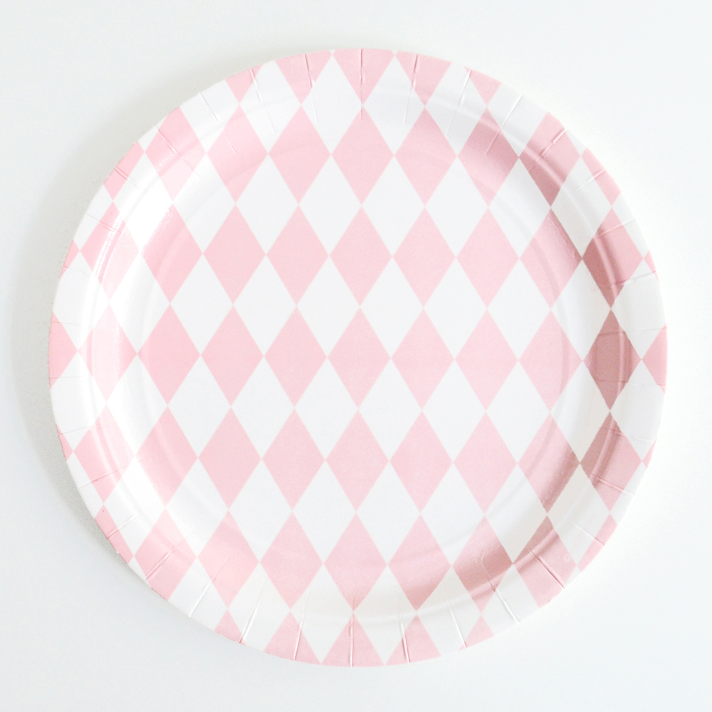 8 pink diamond plates