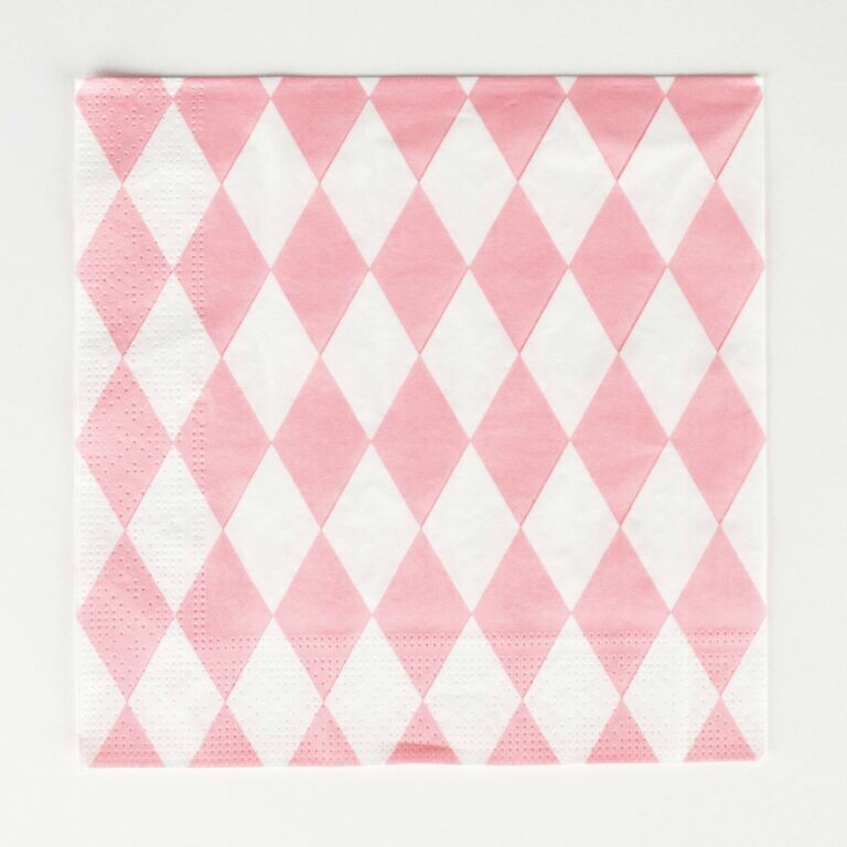 20 pink diamond napkins