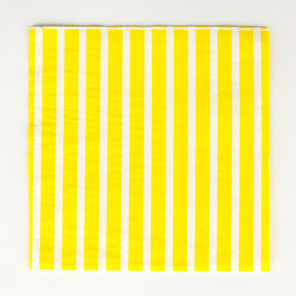 20 yellow striped napkins