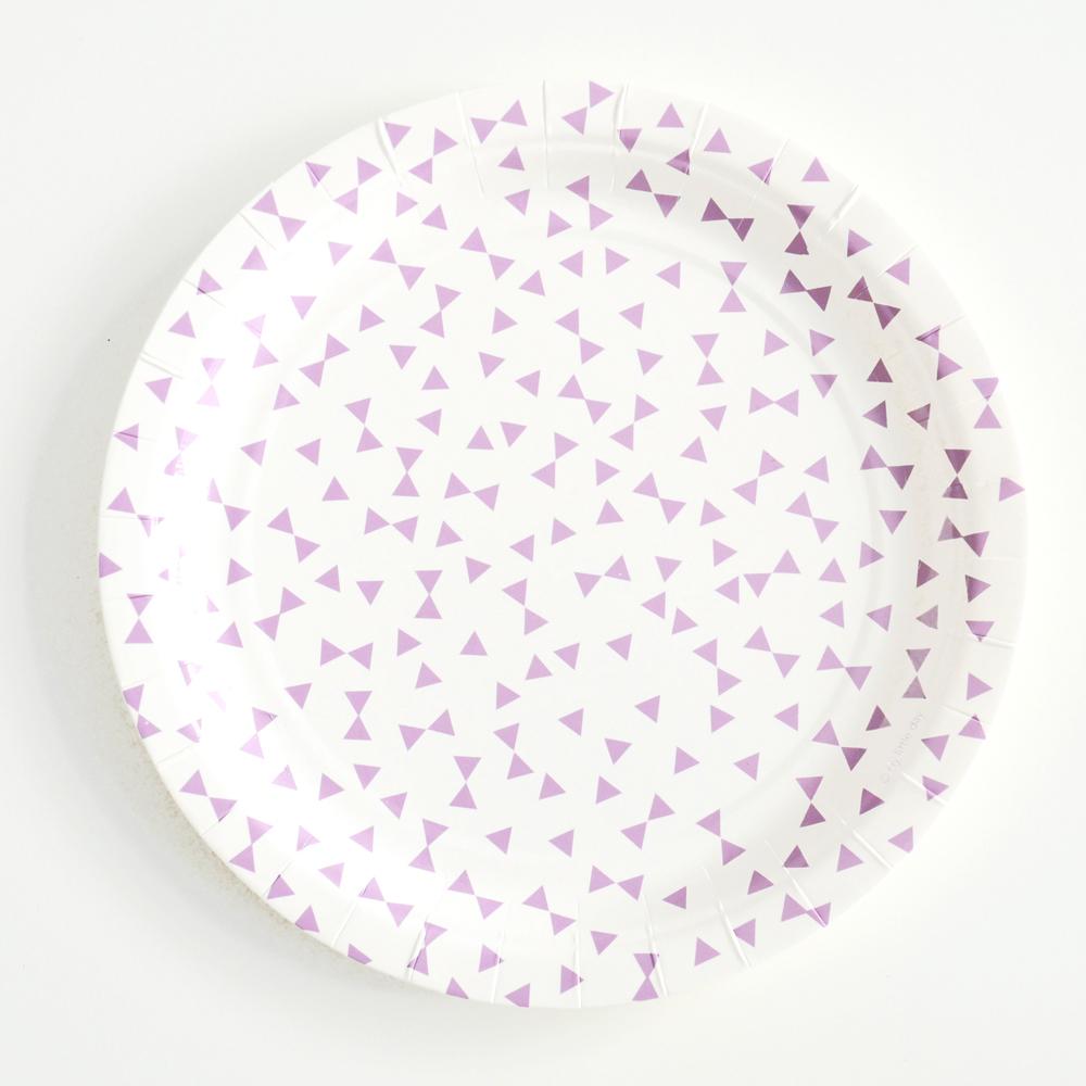 8 lavender bow plates