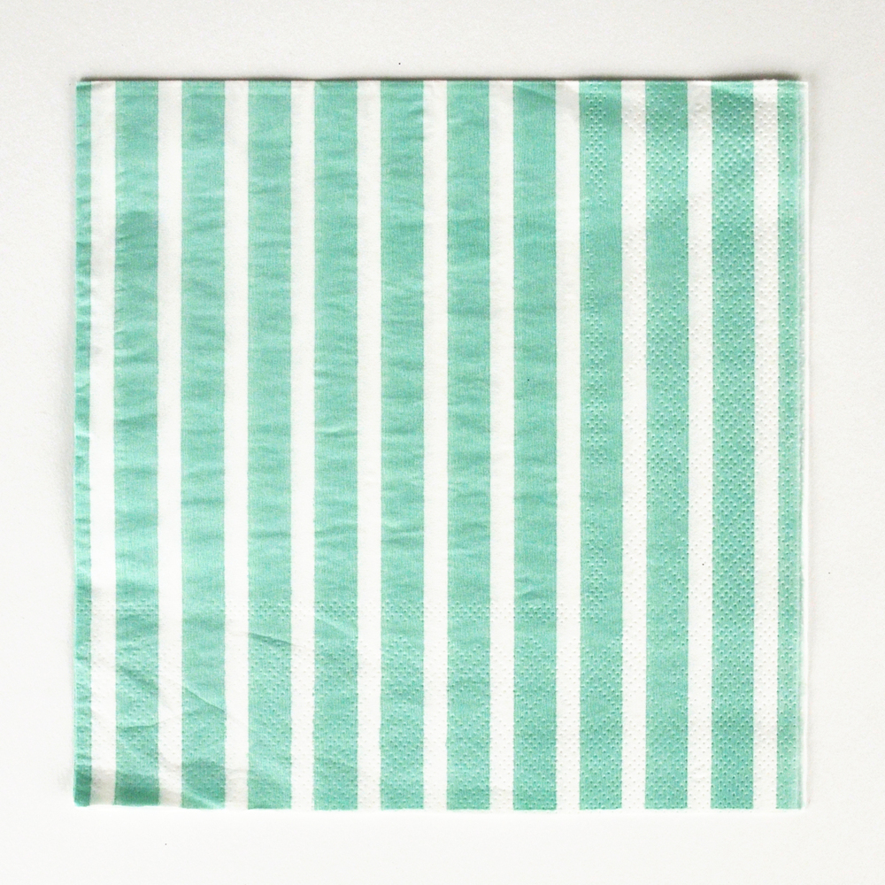 20 aqua striped napkins