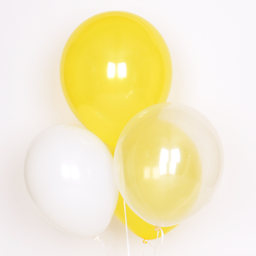 10 YELLOW MIX BALLOONS