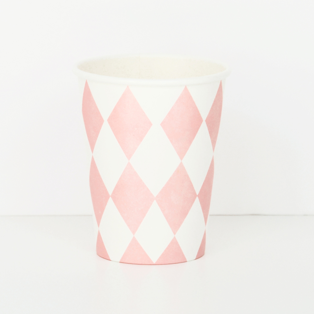 8 pink diamond cups