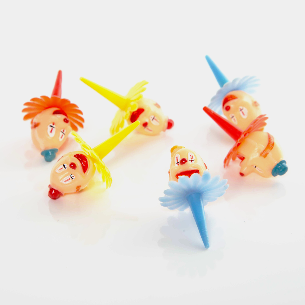 12 CLOWN CAKE TOPPERS