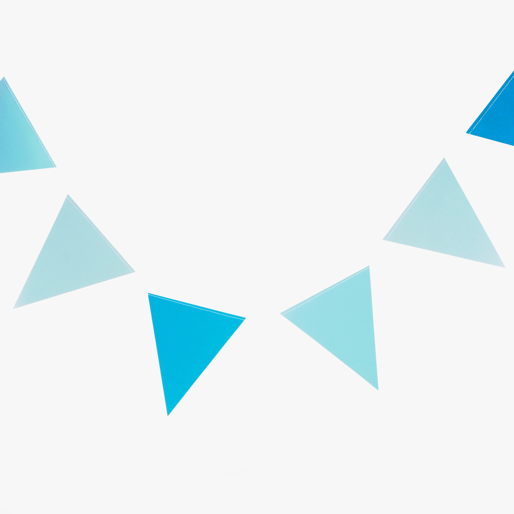 3m blue triangle bunting