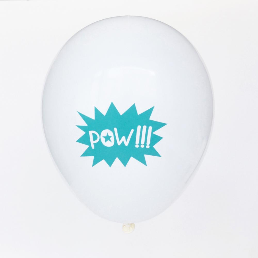 5 pow balloons