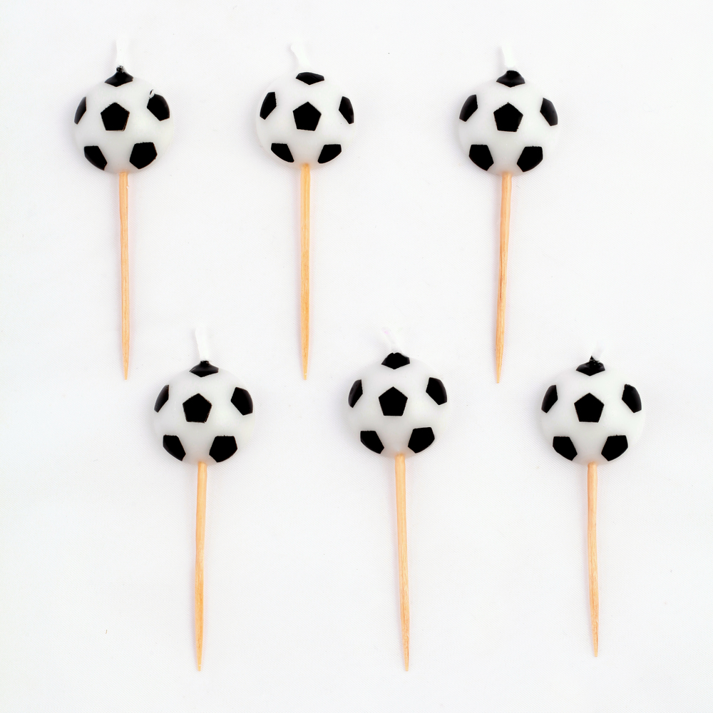 6 football candles