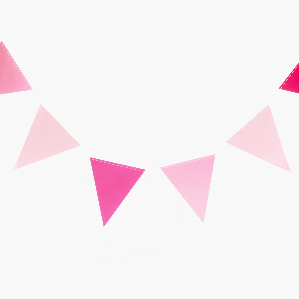 PINK triangle bunting