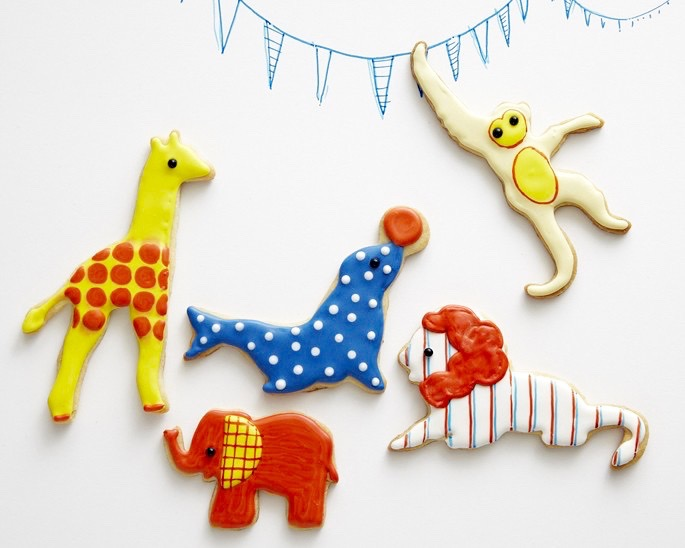 CIRCUS ANIMAL SUGAR COOKIES - THE CAKE GIRLS